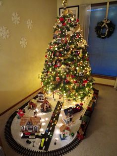 Pintrest/christmas tree trains - Saferbrowser Yahoo Image Search Results