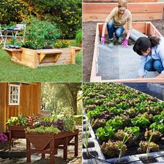 28 Best DIY raised bed gardens, easy to build using inexpensive simple materials. Great tutorials on how to build productive raised beds to grow vegetables and flowers. Plus many ideas on heights, and other creative variations!