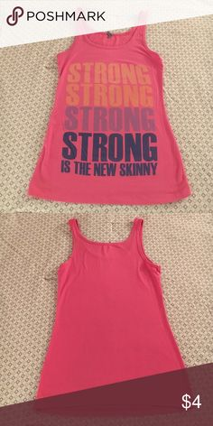 """""""Strong Is The New Skinny"""" Tank 💪🏼 is the new skinny active tank Tops Tank Tops"""