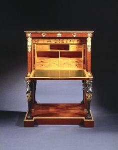 secr taire empire abattant pas d 39 volution importante dans le style empire si ce n 39 est l. Black Bedroom Furniture Sets. Home Design Ideas