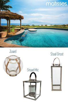 Los faroles son excelentes decorativos para terrazas o patios, hacen que un ambiente sea tranquilo. Puedes acompañarlos de otros elementos como las flores o botellas de cristal.