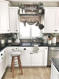 Uplifting Kitchen Remodeling Choosing Your New Kitchen Cabinets Ideas. Delightful Kitchen Remodeling Choosing Your New Kitchen Cabinets Ideas. Kitchen Sink Decor, Kitchen Sink Window, Farmhouse Sink Kitchen, Modern Farmhouse Kitchens, Kitchen Redo, Country Kitchen, Kitchen Furniture, Home Kitchens, Farmhouse Decor