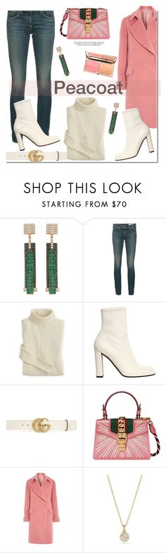 """Peacoat!"" by prettynposh2 ❤ liked on Polyvore featuring Bee Goddess, rag & bone/JEAN, Mulberry, Gucci, Topshop, Baku, David Yurman and peacoat"