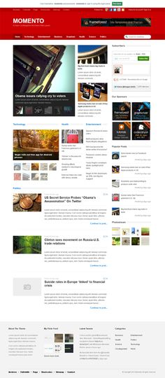Momento, WordPress News Magazine Blog Theme