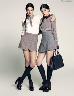 Sister Act: Kendall + Kylie Jenner Pose for Marie Claire Latin America by Vladimir Marti