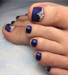 Important Things You Should Know About Acrylic Nails – Page 5366367557 – NaiLovely Pedicure Nail Art, Pedicure Designs, Manicure E Pedicure, Toe Nail Designs, Toe Nail Art, Acrylic Nail Designs, French Tip Pedicure, Summer Pedicure Colors, Summer Toe Nails