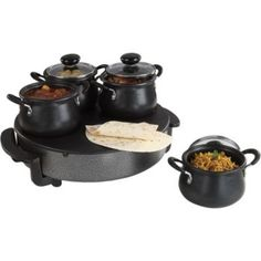 Sada elektrická varná doska a 4 hrnce s pokrievkou Spices Home Living, Rice Cooker, Sugar Bowl, Bowl Set, Spices, Kitchen Appliances, Party, Ideas Para, Pots