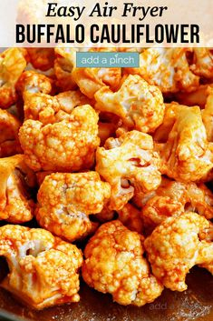 Air Fryer Buffalo Cauliflower Recipe - Liven up your cauliflower with this healthy, delicious buffalo cauliflower recipe made in the air fryer! Ready in minutes and always a hit! // addapinch.com #buffalocauliflower #cauliflower #airfryerbuffalocauliflower #addapinch Frozen Cauliflower Recipes, Califlower Recipes, Cauliflower Bread, Buffalo Cauliflower, Frozen Broccoli, Roasted Cauliflower, Steak Fajitas, Easy Weeknight Meals, Easy Meals