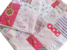 Keepsake-Baby-Clothes-Memory-Quilt-girl- Patchwork-Castle