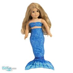 Large Doll Mermaid Tail - Fits American Girl® Doll