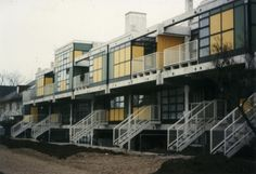 Housing complex (1969-71) in Munich, Germany, by Otto Steidle