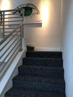 The stair portion of a pattern carpet installation that we did for an executive of Houzz.  So honored to have been able to do this job for a what has become a true industry friend.  #houzz