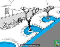 Ways To Make Water From Air – Greenhouse Design Ideas Landscape Design, Garden Design, Rainwater Harvesting System, Water From Air, Water Management, Pub Set, Rain Garden, Water Systems, Urban Planning