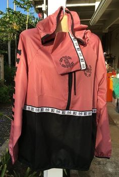 NWT VICTORIA SECRET PINK Soft Begonia Black HAWAII Anorak Hoodie Jacket XS/S NEW   Clothing, Shoes & Accessories, Women's Clothing, Coats & Jackets   eBay!