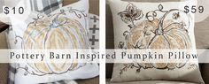 Tutorial for making a Pottery Barn Inspired Pumpkin pillow and saving tons of dough. www.meadowlakeroad.com