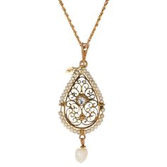 10K Yellow Gold The Chelan Pendant from Brilliant Earth