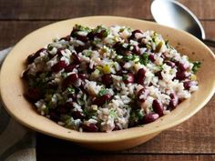 Get Red Beans and Rice Recipe from Food Network See adjustments in notes! Red beans and rice. Top Recipes, Bean Recipes, Rice Recipes, Salad Recipes, Cooking Recipes, Healthy Recipes, Budget Recipes, Healthy Meals, Yummy Recipes