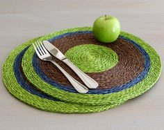 Table Mats  Woven Placemats  African Home  Set by africaohafrica