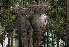 the roost organic treehouse is inspired by biomimicry | design: antony gibbon