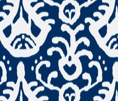 navy ikat fabric by domesticate for sale on Spoonflower - custom fabric, wallpaper and wall decals