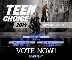 DivergentWorldRo: Nominalizari Teen Choice Awards 2014