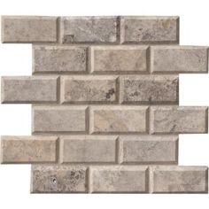 MS International Silver 12 in. x 12 in. x 10 mm Honed Travertine Mesh-Mounted Mosaic Wall Tile SILTRA-2x4HB at The Home Depot - Mobile