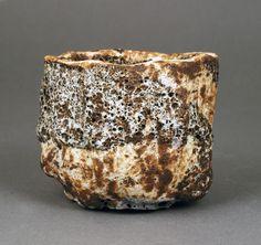 Tea Bowl, circa Mixed laminated clays, dry volcanic surface with brown, grey and pale blue glazes Ceramic Studio, Ceramic Clay, Pottery Pots, Ramen Bowl, Chawan, Contemporary Ceramics, Tea Bowls, Natural Forms, Ceramic Artists