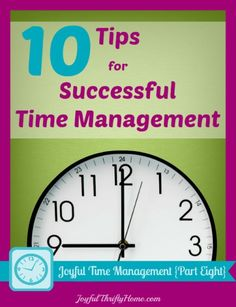 10 tips for successful time management