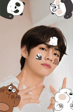 Foto Bts, Bts Photo, V Bts Cute, Park Jimin Cute, V Bts Wallpaper, Wallpaper Iphone Cute, Bts Taehyung, V Bta, V Chibi