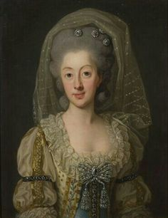 Portrait de Sophie-Madeleine du Danemark, reine deSuèdeet deFinlande, 1782 Per Krafft l'aîné. (Photo par Peter Segemark)