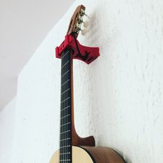 Guitar wall mount modeled and 3D printed by SOLV3D