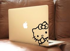 Hello Kitty3 Laptop Decal Macbook Vinyl Decal Car Sticker by BoomStickers on Etsy