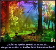 ¡Ser feliz no significa que todo sea un arco iris...sino que has decidido ver la vida a través de todos los colores!