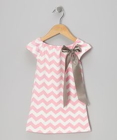 Take a look at this Pink Zigzag Bow Dress - Toddler & Girls I bought at zulily today!