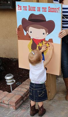 LARGE Western Party Pin the Badge on the by PartyPlanItDesigns
