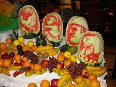Watermelon fruit display
