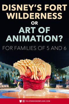 PIN THIS and TAP TO READ /// Disney Art of Animation family suites and Fort Wilderness cabins are similar yet drastically different choices for larger families at Disney World. Here, I let you decide which is best for your family by showing how these two Disney resorts are the same and where there are important differences. #artofanimation #disneyworld #disneyhotels #disneyresorts #fortwilderness