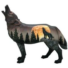 Moonlight Sonata Wolf Figurine