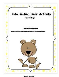 math worksheet : 1000 images about kindergarten hibernation theme on pinterest  : Hibernation Worksheets Kindergarten