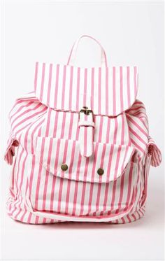 Deb Shops #striped #backpack