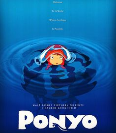Ponyo directed by Hayao Miyazaki (2008) . My rating: 8.5 - 9/10 . Ponyo is one of Studio Ghibli's incredibly adorable films. Although I view it as one of the smaller ones as well what it lacks in a necessarily strong story it makes up for in how wonderful and amazingly imaginative it is. It's about a little fish princess who dreams of seeing the surface world and one day ventures to it. There she meets a five-year-old boy named Sosuke who names her Ponyo. Determined to become a human--which…