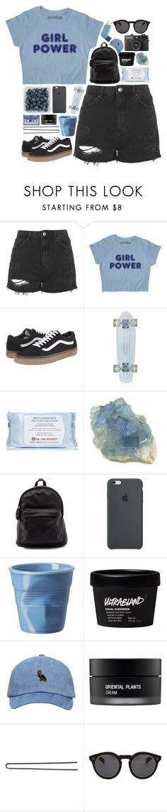 """""""dream of electric eyes // #152"""" by jar-of-hearts-xx ❤ liked on Polyvore featuring Topshop, Vans, First Aid Beauty, Revol, Koh Gen Do, Hershesons and Illesteva"""
