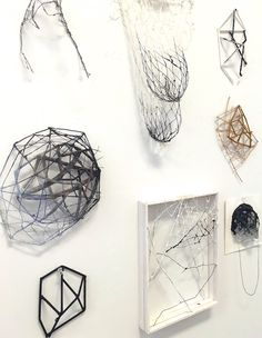 Atsuko Chirikjian, 3D Sketches on the wall in my studio