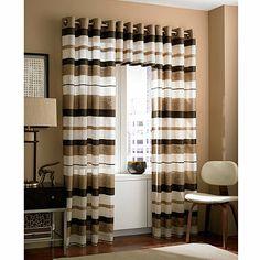 Zanzibar Grommet Window Curtain Valance in Chocolate - BedBathandBeyond.com