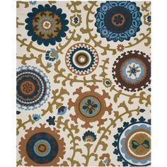 Safavieh Cedar Brook Ivory/Blue 7 ft. 3 in. x 9 ft. 3 in. Area Rug - CDR144D-7 - The Home Depot