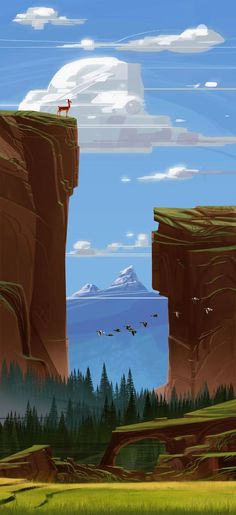 love the depth, but it would have to be a different scenery .. more trees, less cliffs. (northern canada-esque)