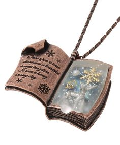 Oh. Em. Winter Story Book pendant by Q-pot. still, this is so beautiful. and so effin expensive
