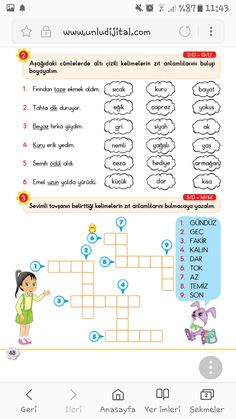 Turkish Lessons, Learn Turkish, Action Verbs, Turkish Language, Class Activities, Kids And Parenting, Classroom, Learning, School