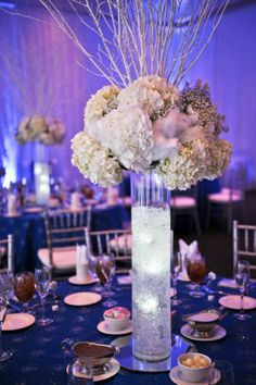 NYE winter wedding centerpiece at the Fredericksburg Expo Center by Anthomanic, Photography by Living Story