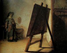 Rembrandt van Rijn, El artista en su estudio, 1628, Boston, Museo de Bellas Artes.